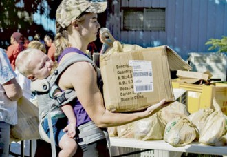 Hundreds Gather for Newberry Food Giveaway